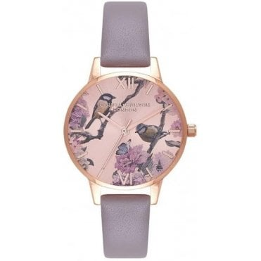 Pretty Blossom London Grey & Rose Gold Watch
