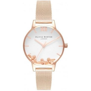 Busy Bee Rose Gold Mesh Watch