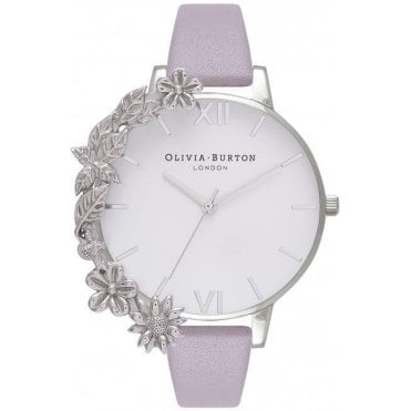 Case Cuff Lilac and Silver Watch
