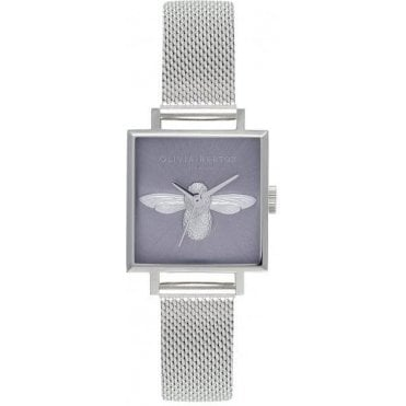 3D Bee Lilac Sunray & Silver Watch