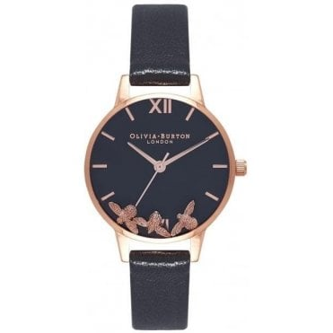 Buzzing Bee Black and Rose Gold Watch