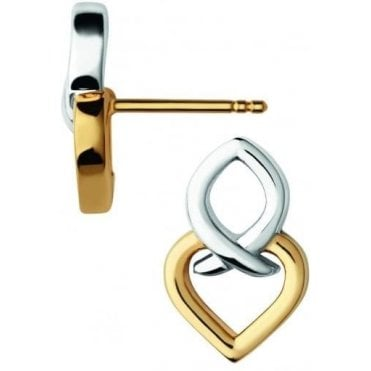 Infinite Love Sterling Silver and 18kt Gold Vermeil Earrings