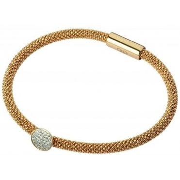 Star Dust Yellow Gold Plate Round Bracelet 5010.2483