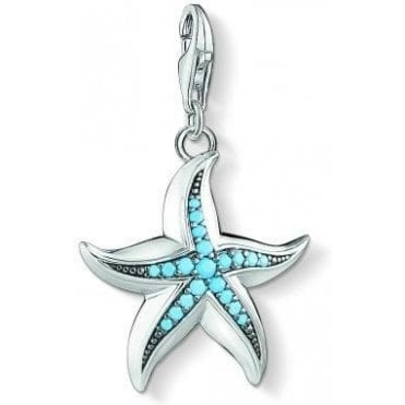 Large Silver and Turquoise Starfish 1527-667-17