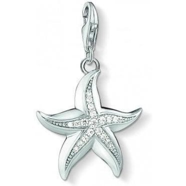 Large Silver Starfish Charm 1528-051-14