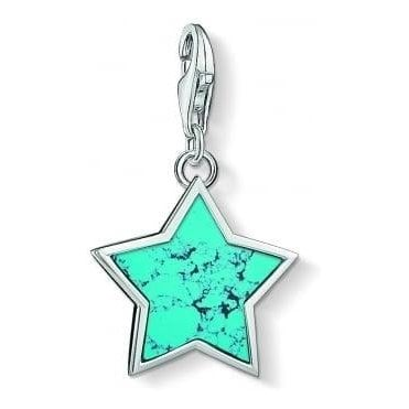 Turquoise Star Charm 1532-404-17