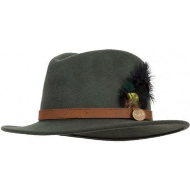 bc8420a6 The Suffolk Black Ostrich & Peacock Fedora. Hicks & Brown ...
