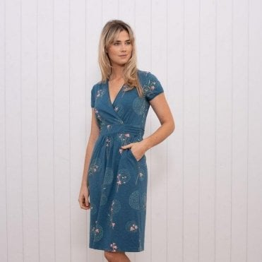 baff4d06ae6e Posey Wrap Dress Peacock