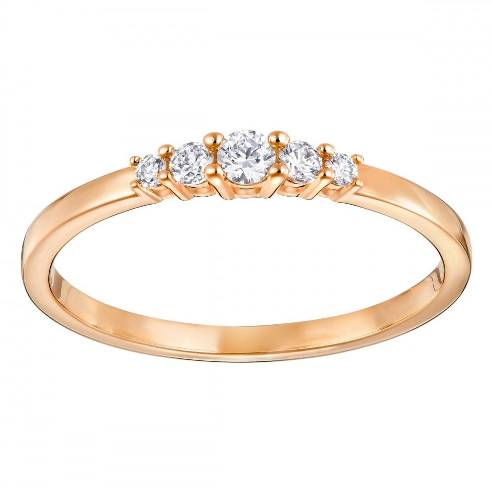 Swarovski Frisson Rose Gold Ring 5240570